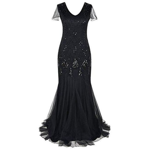 Evening Dress 1920S Flapper Cocktail Mermaid Plus Size Formal Gown Dresses