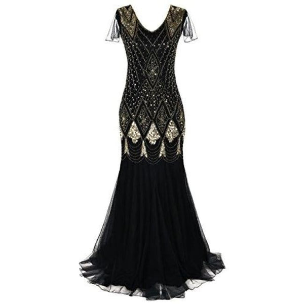 Evening Dress 1920S Flapper Cocktail Mermaid Plus Size Formal Gown