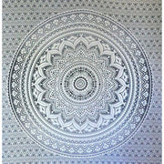 Exclusive Gray Ombre Tapestry By Jaipurhandloom Mandala Tapestry Queen Multi Color Indian Mandala Wall Art Hippie Wall Hanging Bohemian