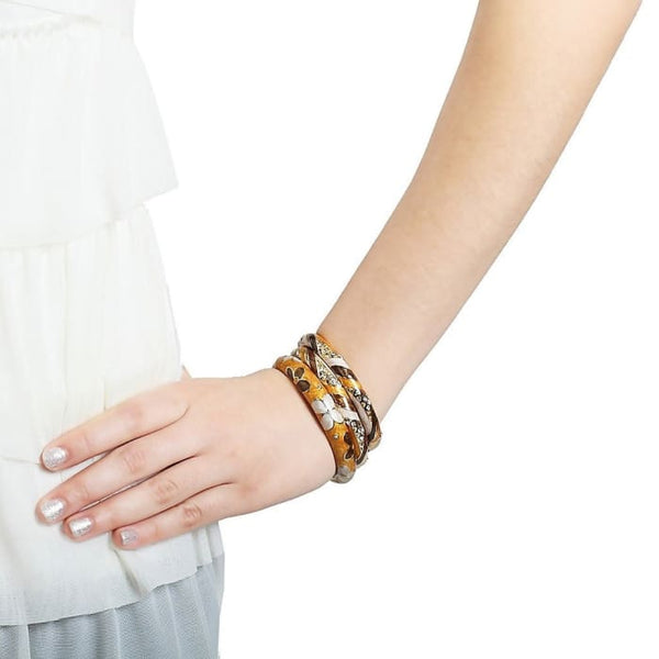 Exotic Floral Gold Plated Bangle Women - Jewelry - Bracelets