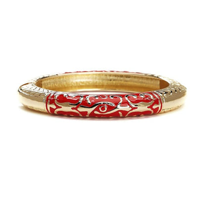 Fantasy Red Gold Plated Cuff Bracelet Women - Jewelry - Bracelets