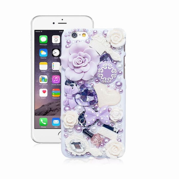 Fashion Pearl Crystal 3D Case For Iphone 6 5 5S 5C 6 Plus Hard Cover Phone Cases For Apple Iphone 6S Case Accessories Protector White / For