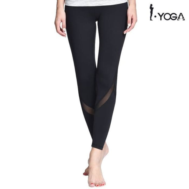 Fitness Yoga Sports Leggings For Women Sports Tight Mesh Yoga Leggings Black / S Yoga Pants