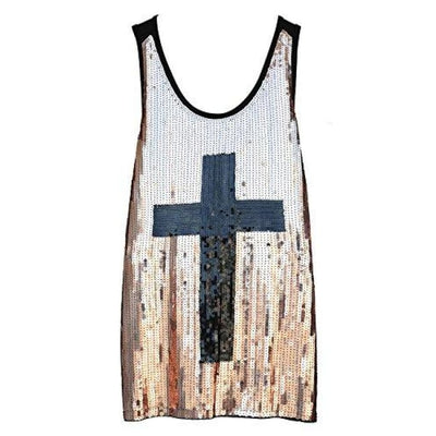 Flapper Girl Glam Sequins Cross Tank Top Vest Nightclub Camisole Vest Shirt Back To Flapper Girl Store