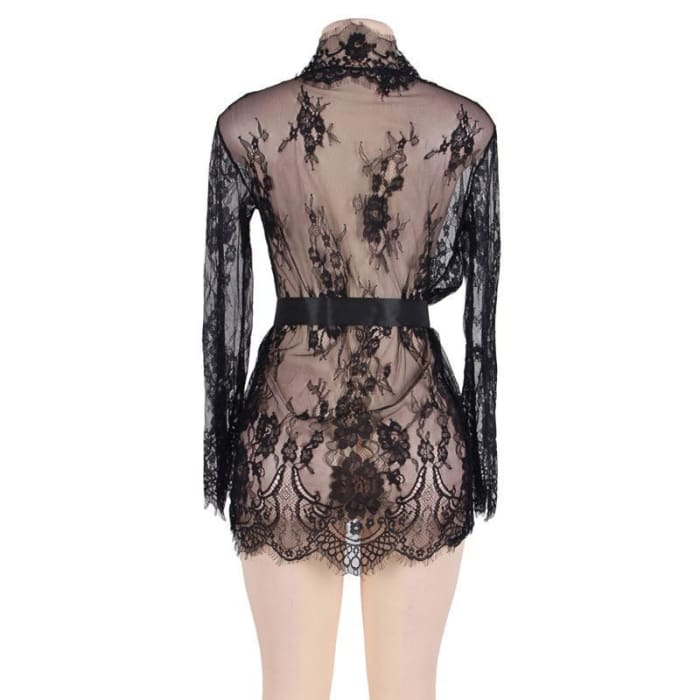 29ffc10e2c ... Floral Night Wear Sexy Bridesmaid Robes Plus Size Long Sleeve Babydolls    Chemises ...