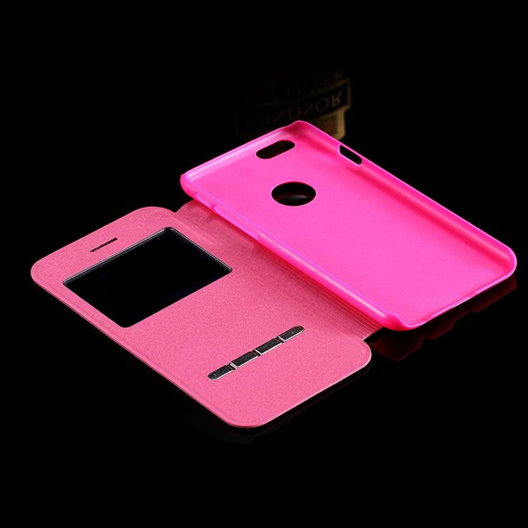 For Iphone 6 6S Luxury Smart Front Window View Leather Flip Case For Apple Iphone 6 6S 4.7/plus 5.5 Slim Phone Accessories Cover Phone Bags