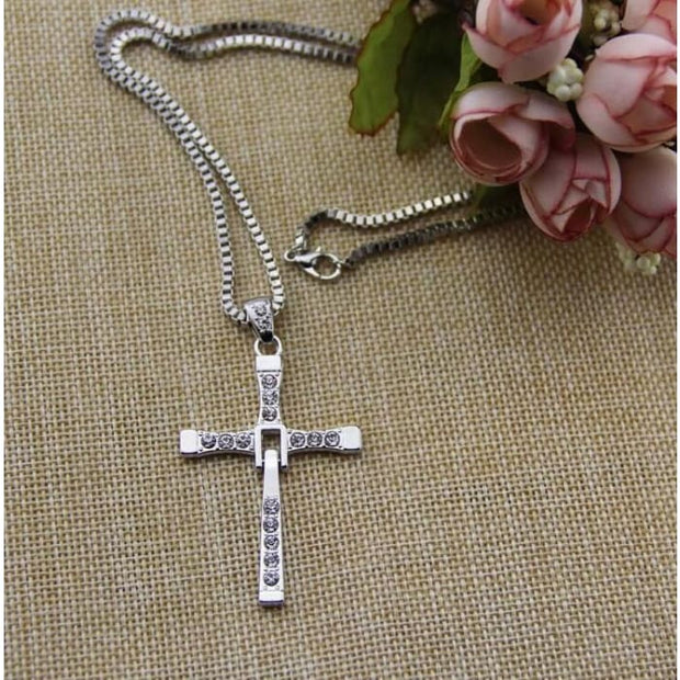 Freeshipping Fast And Furious Seven Gold Color Dominic Hot Selling Dominic Toretto Cross Mens Necklace Pendant Wholesale 2016 Silver Pendant