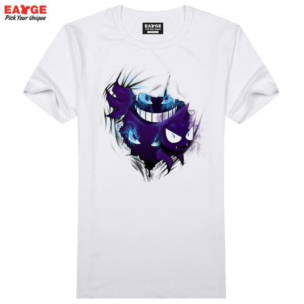 Gengar Out Of Your T Shirt Design 3D Effect Pokemon Go T-Shirt Cool Novelty Funny Tshirt Style Men Women Printed Fashion Top Tee T-Shirts