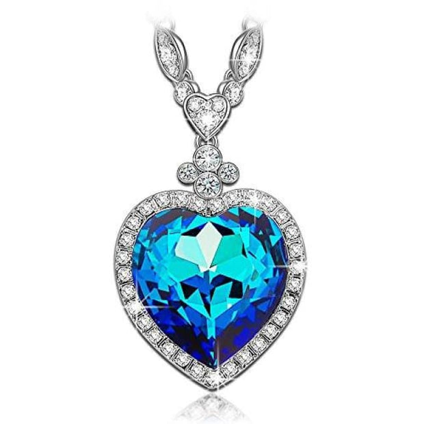 Heart Of The Ocean Titanic Sapphire Pendant Necklace Made With Swarovski Crystals Back To Lady Colour Store