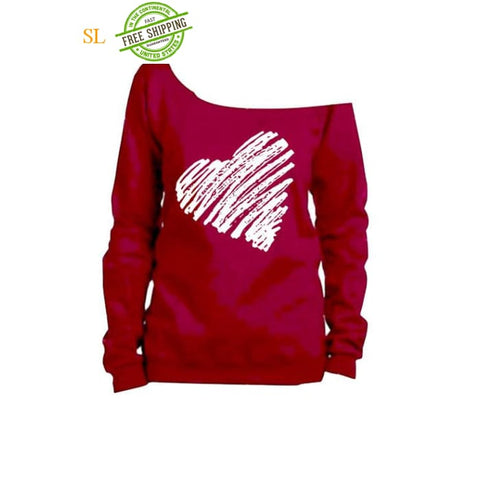 Heart Shirt. Valentines Day Sweatshirt. Slouchy Sweatshirt.