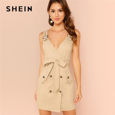 High Waist Dress Summer Women Casual Dresses