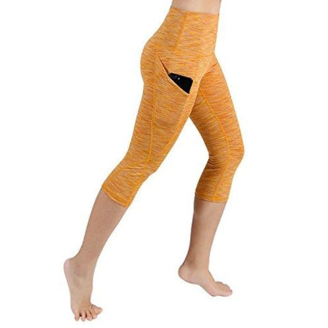 High Waist Out Pocket Yoga Pants Tummy Control Workout Running