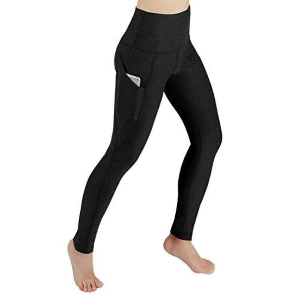 High Waist Out Pocket Yoga Pants Tummy Control Workout Running Small / Yogapocketpants715-Black2