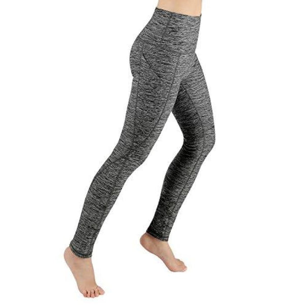 High Waist Out Pocket Yoga Pants Tummy Control Workout Running Small / Yogapocketpants715-Charcoalheather