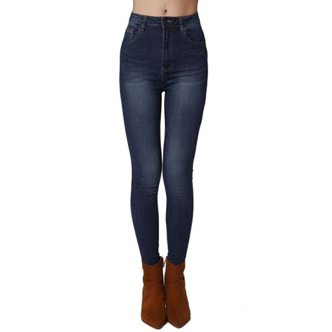 High Waist Second Skin Superskinny Jean In Blackened Blue Women - Apparel - Denim - Jeans