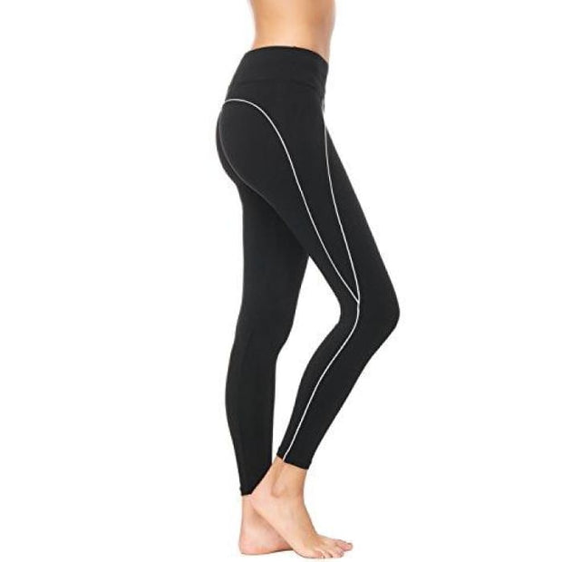 High Waisted Yoga Pants - Running Workout Legging Hidden Pocket Non See-Through Black1 / X-Small Leggings