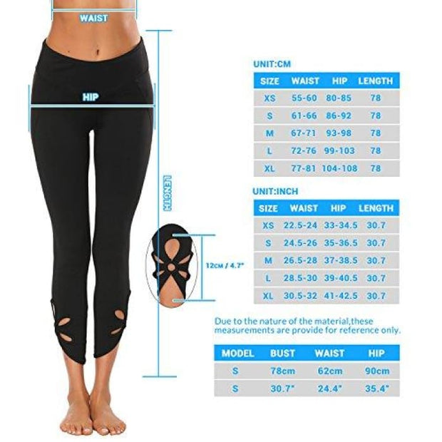 High Waisted Yoga Pants - Running Workout Legging Hidden Pocket Non See-Through Leggings