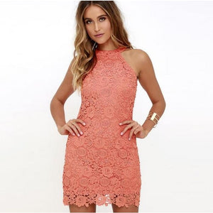 Hollow Out Sexy Mini Dresses Watermelon Red / S Dresses