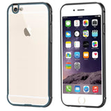 I6 4.7/6S Fashion 2 In 1 Hybrid Slim Clear Case For Iphone 6 6S Hard Aluminum Metal Frame + Plastic Back Mobile Phone Cover Capa Phone Bags