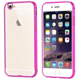 I6 4.7/6S Fashion 2 In 1 Hybrid Slim Clear Case For Iphone 6 6S Hard Aluminum Metal Frame + Plastic Back Mobile Phone Cover Capa Pink Phone