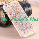 I6 / Plus Glitter Rainbow Case For Apple Iphone 6 4.7/ Plus 5.5 With Bling Stars Soft Tpu Silicone Gel Cell Phone Back Cover Phone Bags &