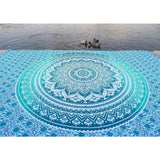 Indian Mandala Tapestry Blue Ombre Beach Throw Bohemian Wall Hanging Bedspread Tapestries
