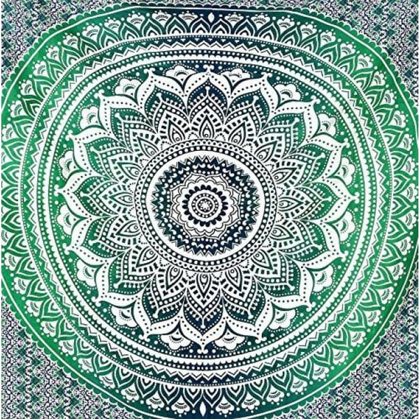 Indian Mandala Tapestry Hippie Hippy Wall Hanging Throw Bedspread Dorm Tapestry Decorative Wall Hanging Ombre Mandala Tapestries Back To