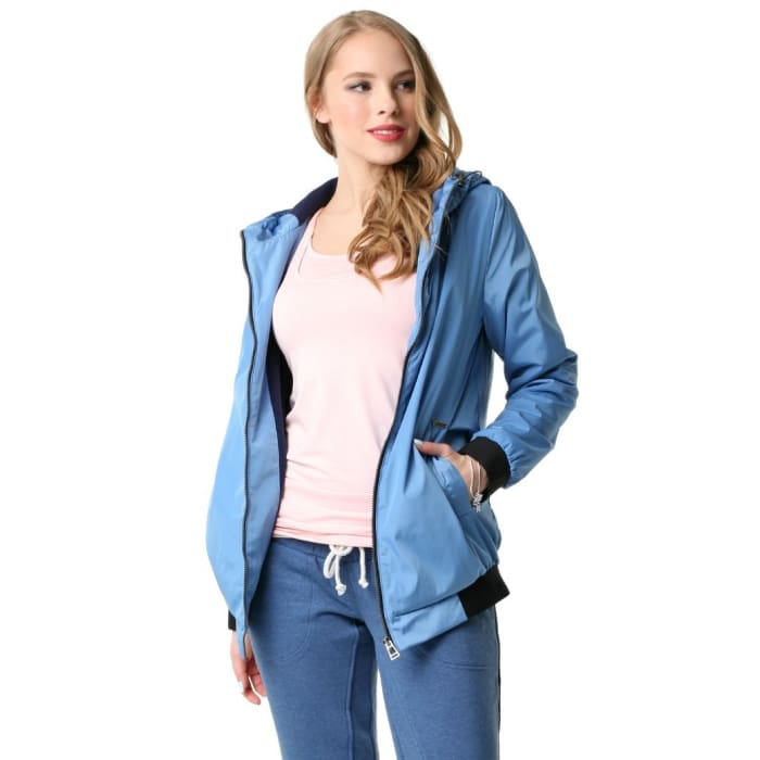 Jacket demi-season Orlando ; blue color