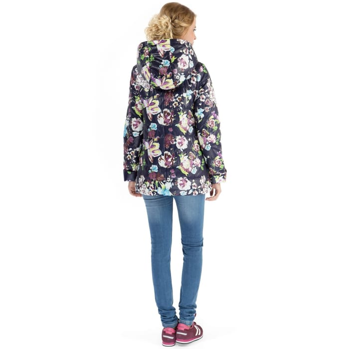 Jacket Veronica flowers on dark blue