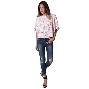 Jeans In Mid Stone Wash With Busted Knees Women - Apparel - Denim - Jeans