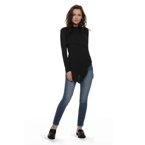 Jumper FH29823 elongated color: black