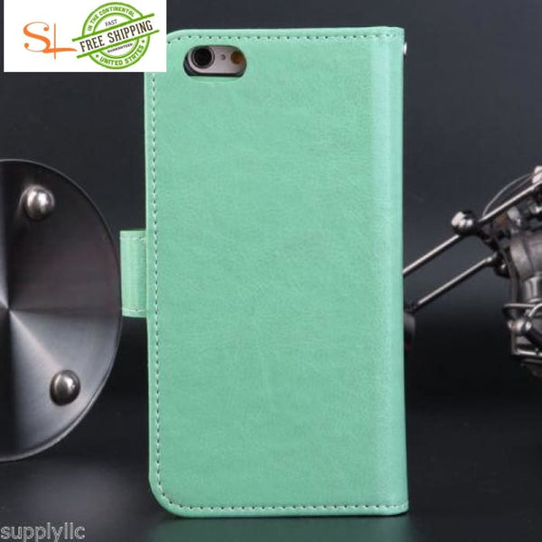 Leather Credit Card Holder Wallet Flip Case Cover Cases Covers & Skins
