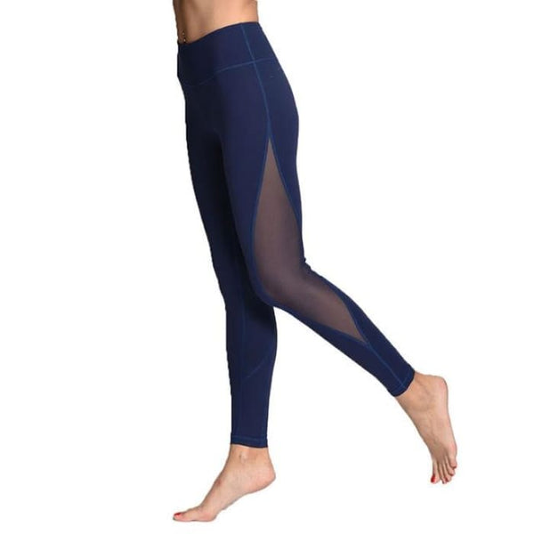 Leggings For Women Yoga Compression Pants Women Sports Gym Tights Blue / S Yoga Pants