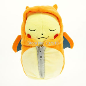 Lovely Pokemon Center Orange Close Eyes 8&12 Pikachu In Lizardon Sleeping Bag Plush Doll Toys Stuffed & Plush Animals