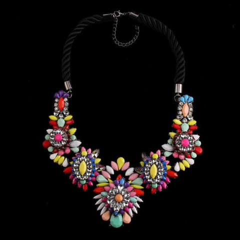 Luxury Multicolor Fashion Necklace Shourouk Rope Chain Choker Statement Za Brand High Quality Collar Necklaces & Pendants