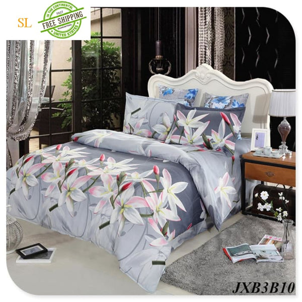 Luxury Washed 100% Polister Luxury Bedding Set 3D Anmail Tiger Peacock Bedding Queen King Size White / King Bedding Sets