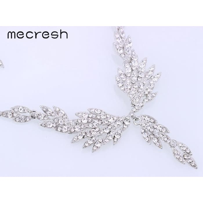 Mecresh Eagle Wing Shape Crystal Bridal Jewelry Sets Jewelry Sets