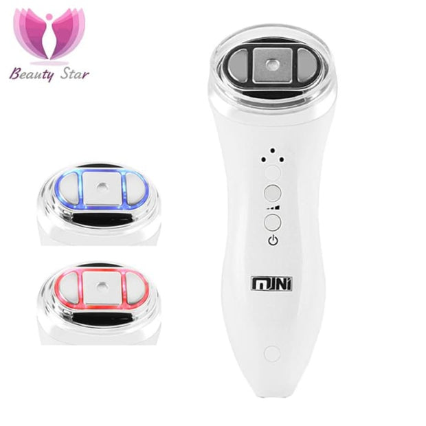 Mini Hifu Bipolar Rf Face Lifting Neck Wrinkle Removal Focused Ultrasound Led Radio Frequency Anti-Aging Facia Beauty Massager Massage &