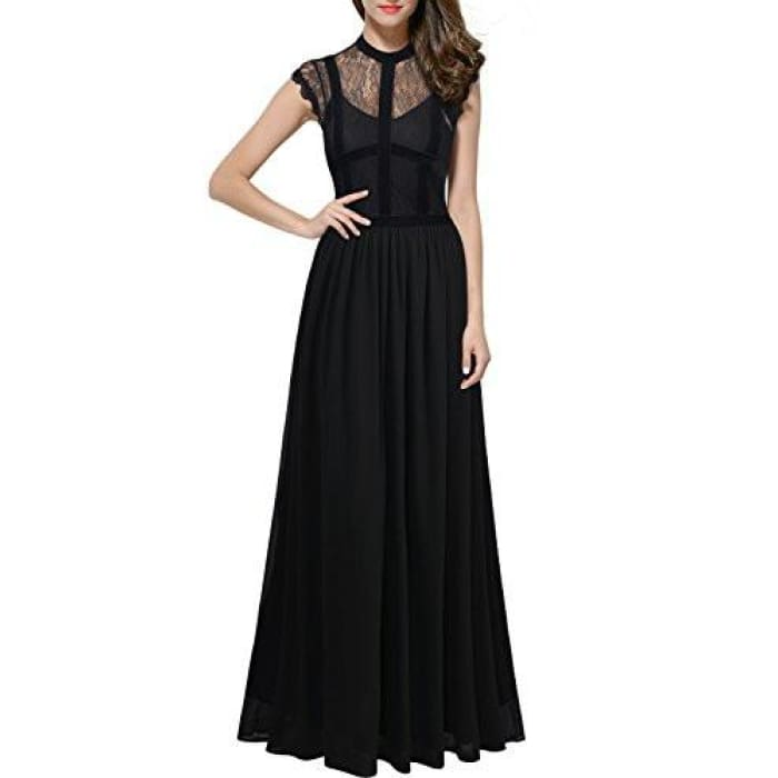 Miusol Womens Floral Lace Retro 1920S Royal Style Formal Long Dress Back To Results