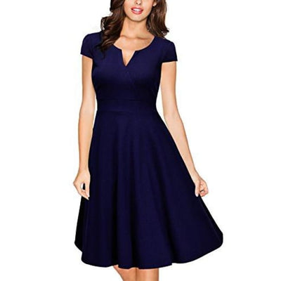 Miusol Womens Retro V Neck Cap Sleeve 1950S Cocktail Evening Swing Dress Back To Results