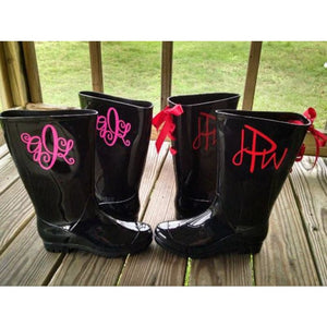 Monogram Rain Boots / Wide Calf Available