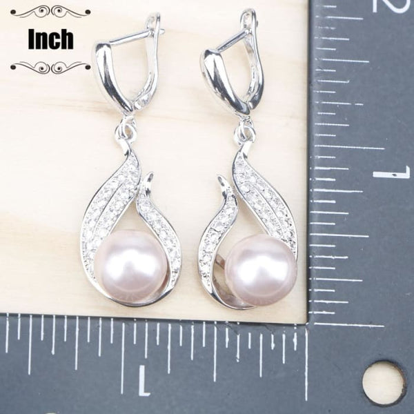 Natural Pearls 925 Silver Jewelry Sets Jewelry Sets