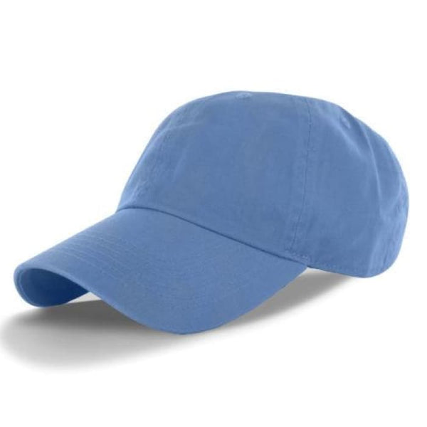 New 100% Cotton Cap Hat Adjustable Polo Style Washed Baseball Plain Solid Visor Hats
