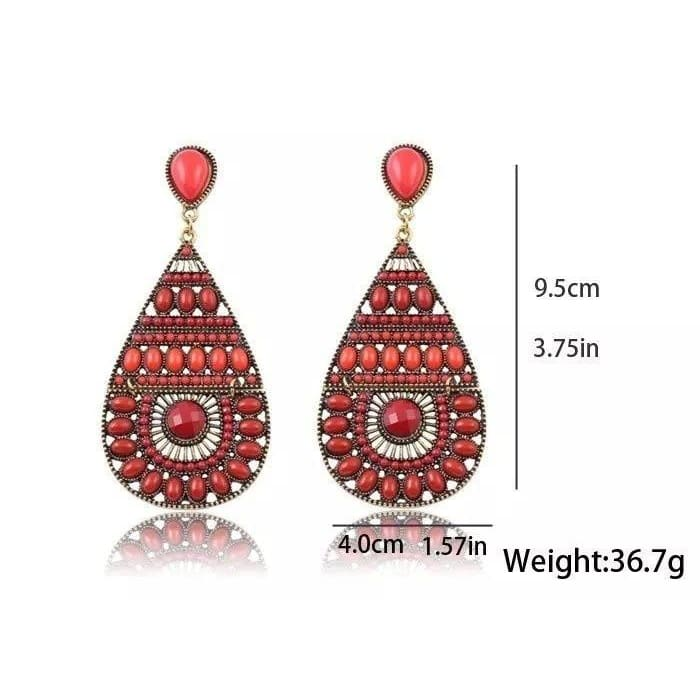 New Fashion Vintage Earrings Ethnic Style Colorful Bohemian Beads Drop Jewelry For Women