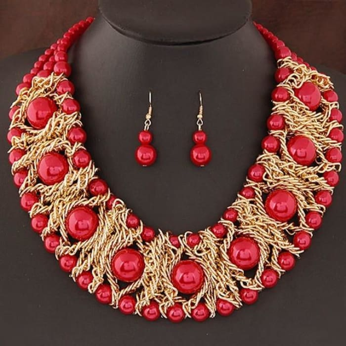 New Jewelry Sets For Women Boutique Jewelry Sets Red Jewelry Sets