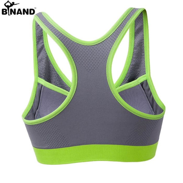 New Women Zipper Sports Bra Push Up Yoga Shirts