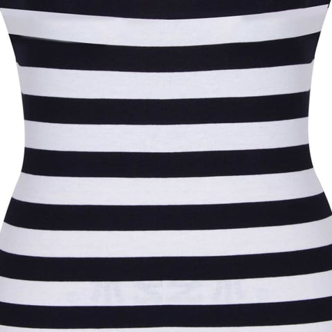 Nice-Forever Plus Size Fit And Flare Dresses Women Summer Dress Sexy Sleeveless Floor-Length Striped Beach Maxi Dress Bty724 Dresses