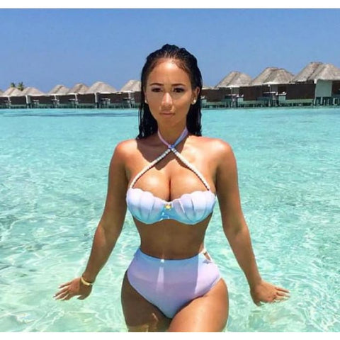 Ombré Mermaid High Waisted Bikini