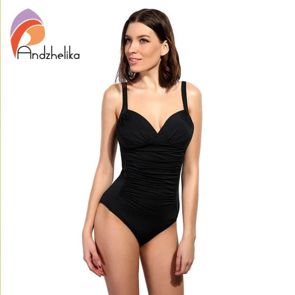 One Piece Swimsuit Women Swimwear Solid Beach Plus Size Bodysuits One-Piece Suits