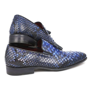 Paul Parkman Mens Blue Genuine Python Tassel Loafers (Id#26Blu98) Men - Shoes - Loafers & Drivers